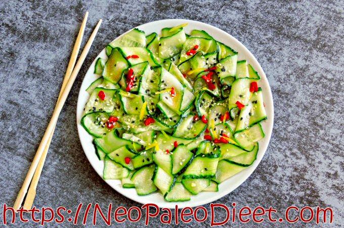 Aziatische Komkommersalade