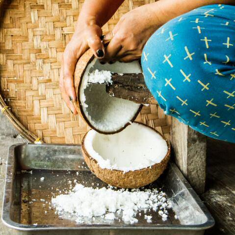 Geraspte kokos
