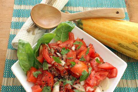 Tomatensalade met ui